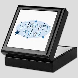 """Literary Diva"" [blue] Keepsake Box"